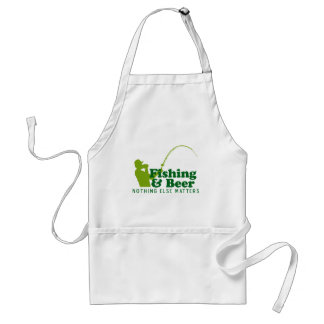 Fishing and Beer Adult Apron