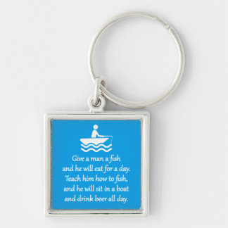Fishing and Beer - Sarcastic Zen Phrase Keychain