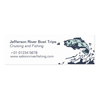 Fishing and crusing admit one skinny business card