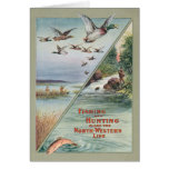 Fishing and Hunting along the North-Western Line Greeting Cards