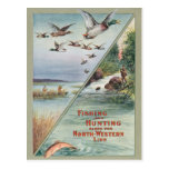 Fishing and Hunting along the North-Western Line Postcard