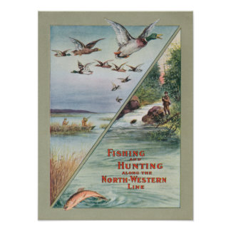 Fishing and Hunting along the North-Western Line Print