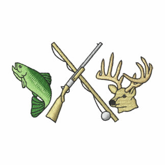 Fishing and hunting logo gifts on zazzle for Hunting and fishing gifts
