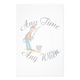 Fishing any time stationery