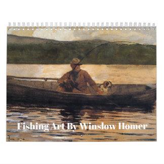 Fishing Art by Winslow Homer Calendar