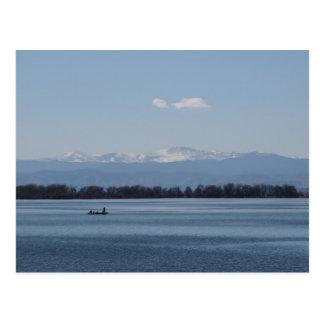 Fishing at Barr Lake State Park Colorado Postcard