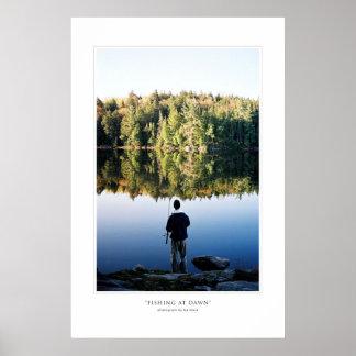 Fishing At Dawn Print