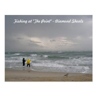 Fishing at Diamond Shoals OBX Postcard