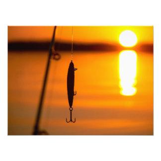 Fishing at sunrise photo print
