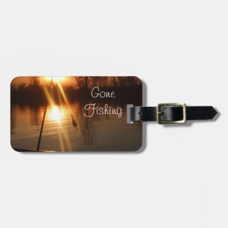 Fishing At Sunset Bag Tag