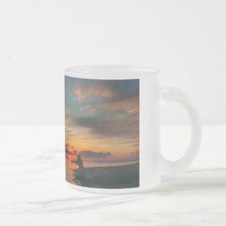 Fishing at Sunset, frosty mug for dad