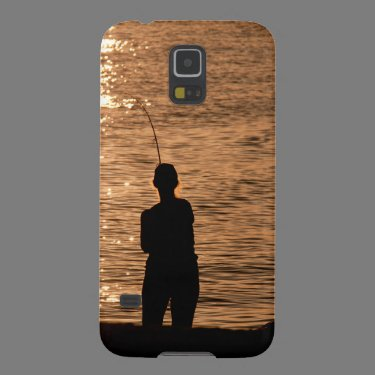 Fishing at sunset galaxy s5 cases