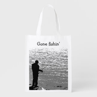 Fishing at the Lake Grocery Bag