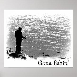 Fishing at the Lake Poster