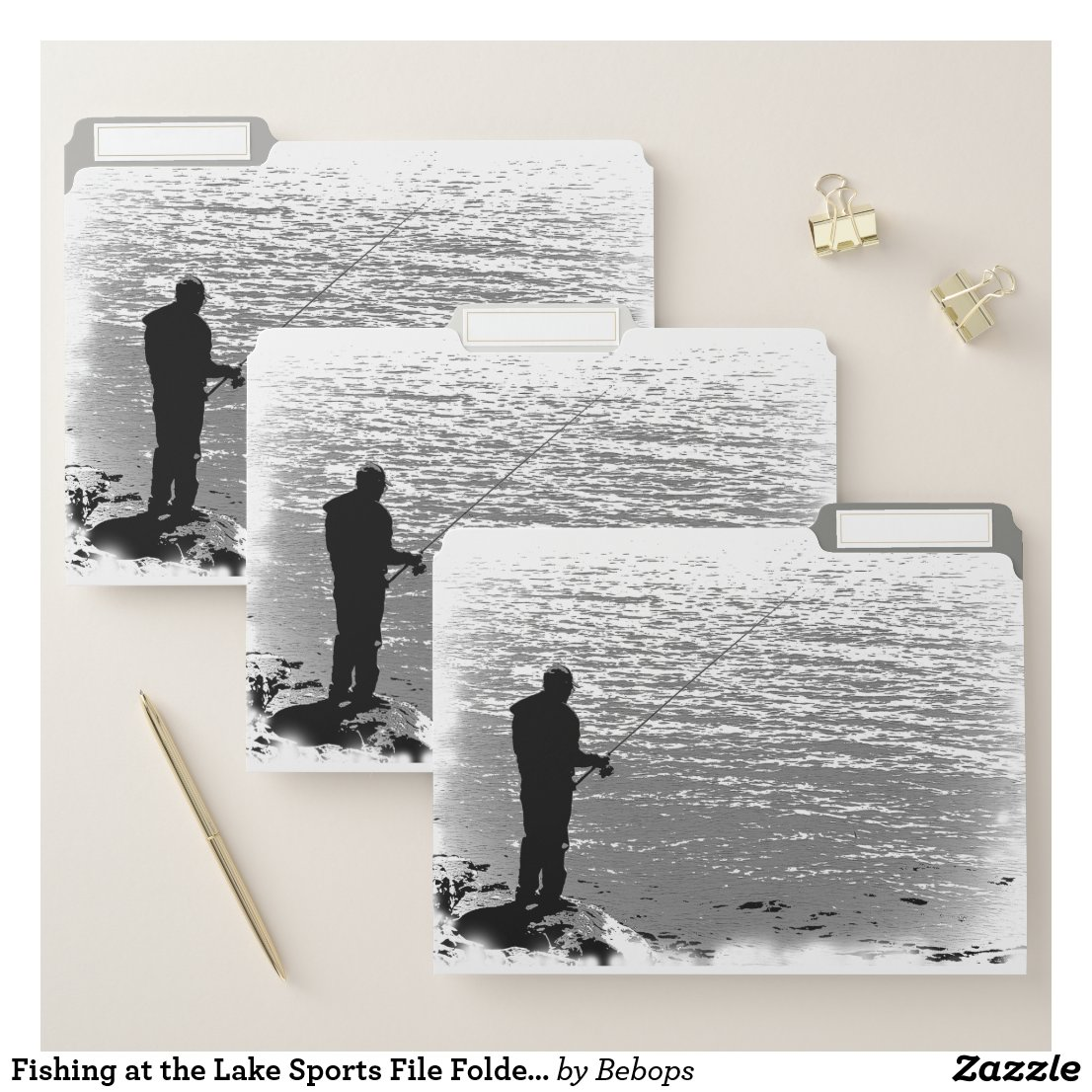 Fishing at the Lake Sports File Folder Set