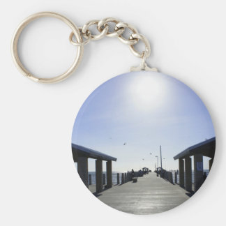 Fishing at the Pier Keychain