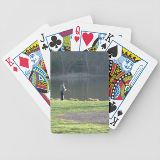 Fishing at the Pond Bicycle Playing Cards