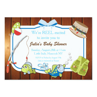 Fishing Baby Shower Invitation Personalized Invite