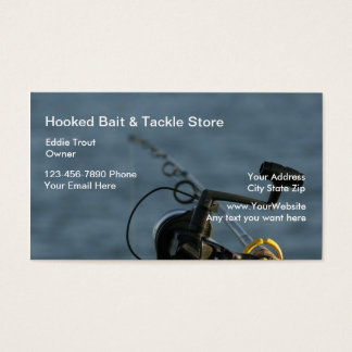 Fishing Bait And Tackle Business Cards