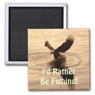 Fishing Bald Eagle at Dusk Wildlife Photo Pin Magnet