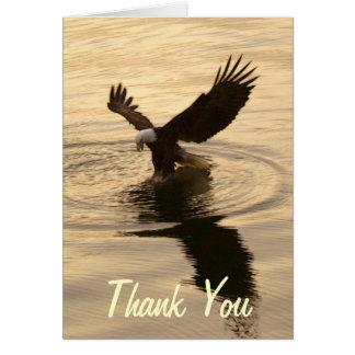 Fishing Bald Eagle at Dusk Wildlife Photo Thankyou Greeting Card