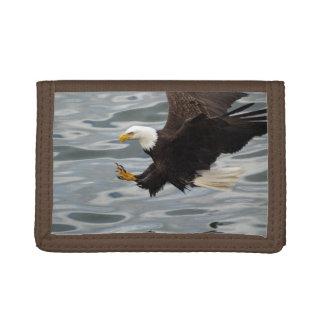 Fishing Bald Eagle Birdlovers Wildlife Photo 6 Tri-fold Wallets