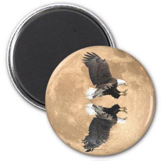 Fishing BALD EAGLE & FULL MOON Magnet