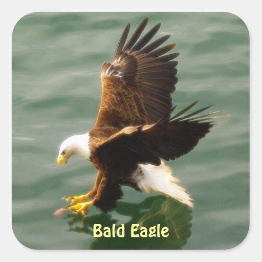 Fishing Bald Eagle Motivational Sticker Set