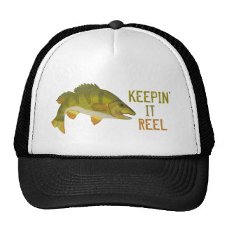 Fishing Bass Fish Funny Keepin' It Reel Trucker Hat