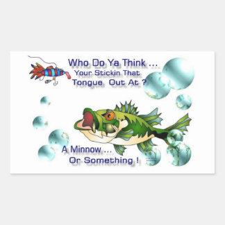Fishing Bass Rectangle Stickers