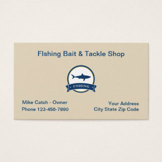 Fishing Bat And Tackle Business Card