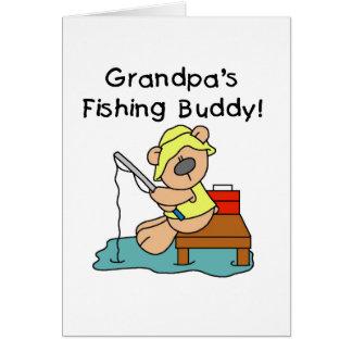 Fishing-Bear Grandpa's Fishing Buddy Tshirts Card