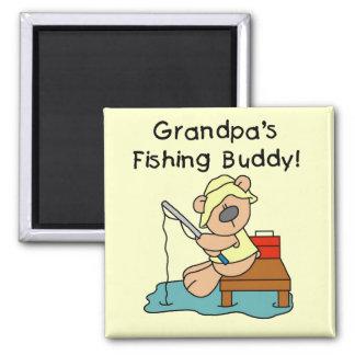 Fishing-Bear Grandpa's Fishing Buddy Tshirts Magnets