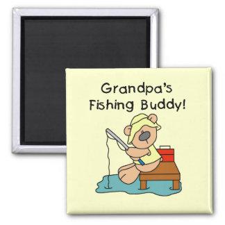 Fishing-Bear Grandpa's Fishing Buddy Tshirts Fridge Magnets