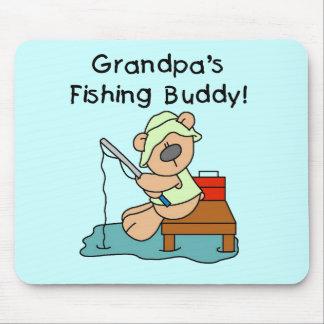Fishing-Bear Grandpa's Fishing Buddy Tshirts Mouse Pad