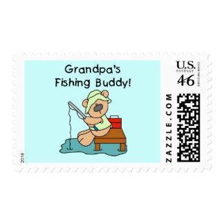 Fishing-Bear Grandpa's Fishing Buddy Tshirts Stamps