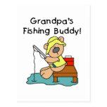 Fishing-Bear Grandpa's Fishing Buddy Tshirts Post Cards