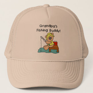 Fishing-Bear Grandpa's Fishing Buddy Tshirts Trucker Hat