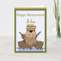 Fishing Bear Retirement Card