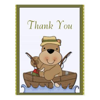 Fishing Bear Retirement Postcard