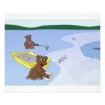 Fishing Bears - Jumping Salmon Photo Print