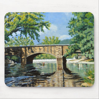 Fishing Bennett Spring Landscape Acrylic Painting Mouse Pad