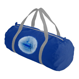 Fishing big fish blue and white rods dream of fish gym bag