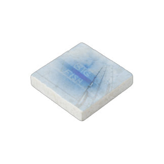 Fishing big fish blue and white rods dream of fish stone magnet