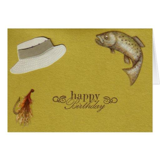 Fishing birthday card zazzle for Fishing birthday cards