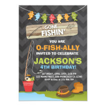 Fishing Birthday Invitation Fishing party Boy