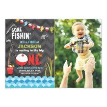 Fishing Birthday Invitation Reeling The big one