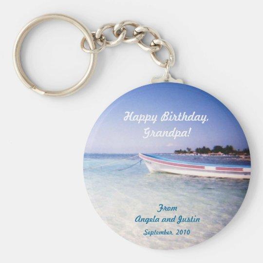 Fishing Birthday Keychain