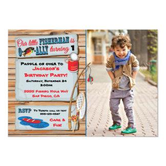 Fishing Birthday Party Boy Invitation