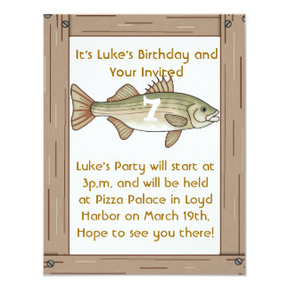Fishing Birthday Party Boys Invitation